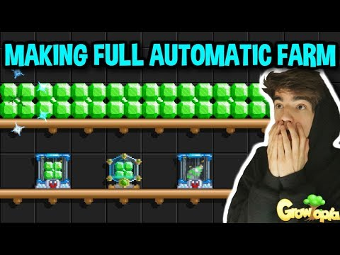 BUILDING FULL AUTOMATIC FARM WORLD!! | Growtopia