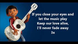 Remember Me OST COCO (With Lyrics) - Miguel feat Natalia Laf...