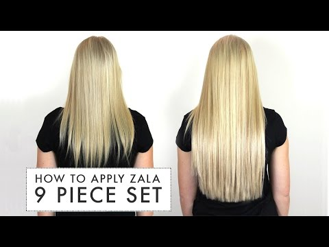 How to apply ZALA 9 piece set of clip in hair extensions