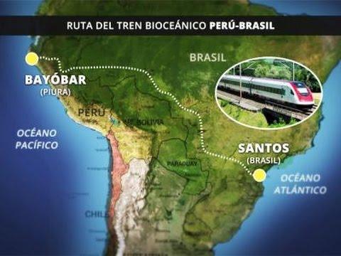 Tren bioceánico Perú-Brasil puede ser nuevo Canal de Panamá