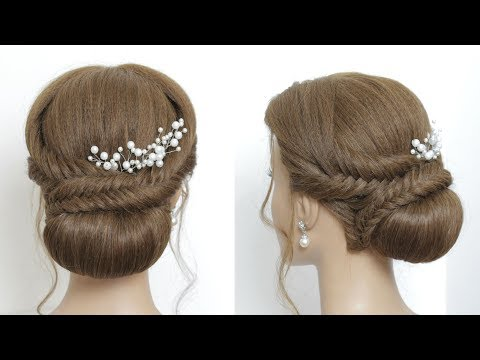 Prom Wedding Braided Updo Hair Tutorial