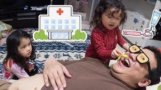 再アップ●普段遊び●変な歯医者さん!?お医者さんごっこ遊び☆まーちゃん【4歳】おーちゃん【2歳】#609 thumbnail