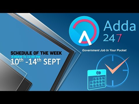 Adda247 Online Free Classes Schedule | 10th-14th September