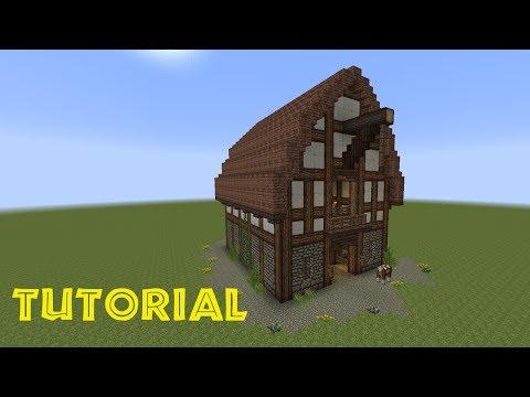 Minecraft tutorial mittelalter haus schneiderei f for Minecraft holzhaus