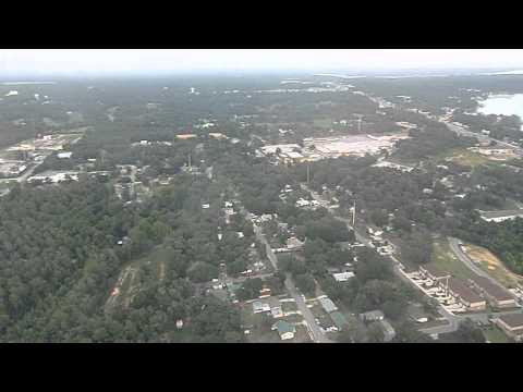 Landing at Eglin AFB. CRJ-200 US Airways