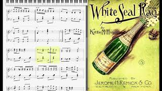 The White Seal Rag by Kittie Hamel (1907, Ragtime piano)
