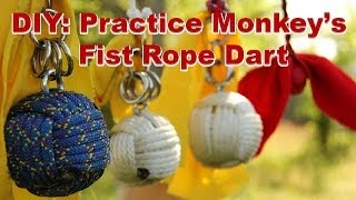 How To Make A Practice Rope Dart / Monkey's Fist Knot (part 2a Of 4)