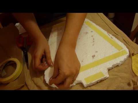 Tutorial come lavorare e riciclare il polistirolo in ca - Portaorecchini fai da te ...