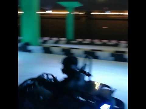 Electric kart drifting in @teslakarting
