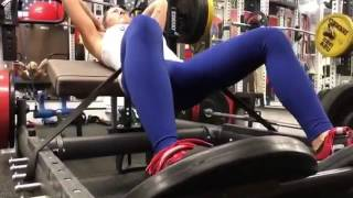 Elevated hip thrusts and reverse frog pumps glute workout