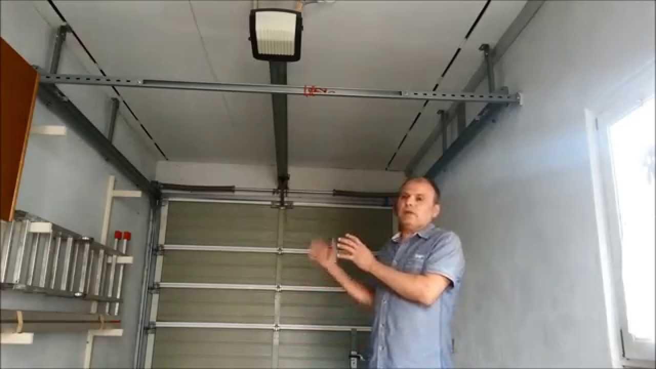 Einbau Eines Elektrischen Garagentoroffner Youtube