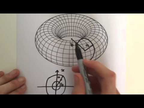how to find the surface area of a torus
