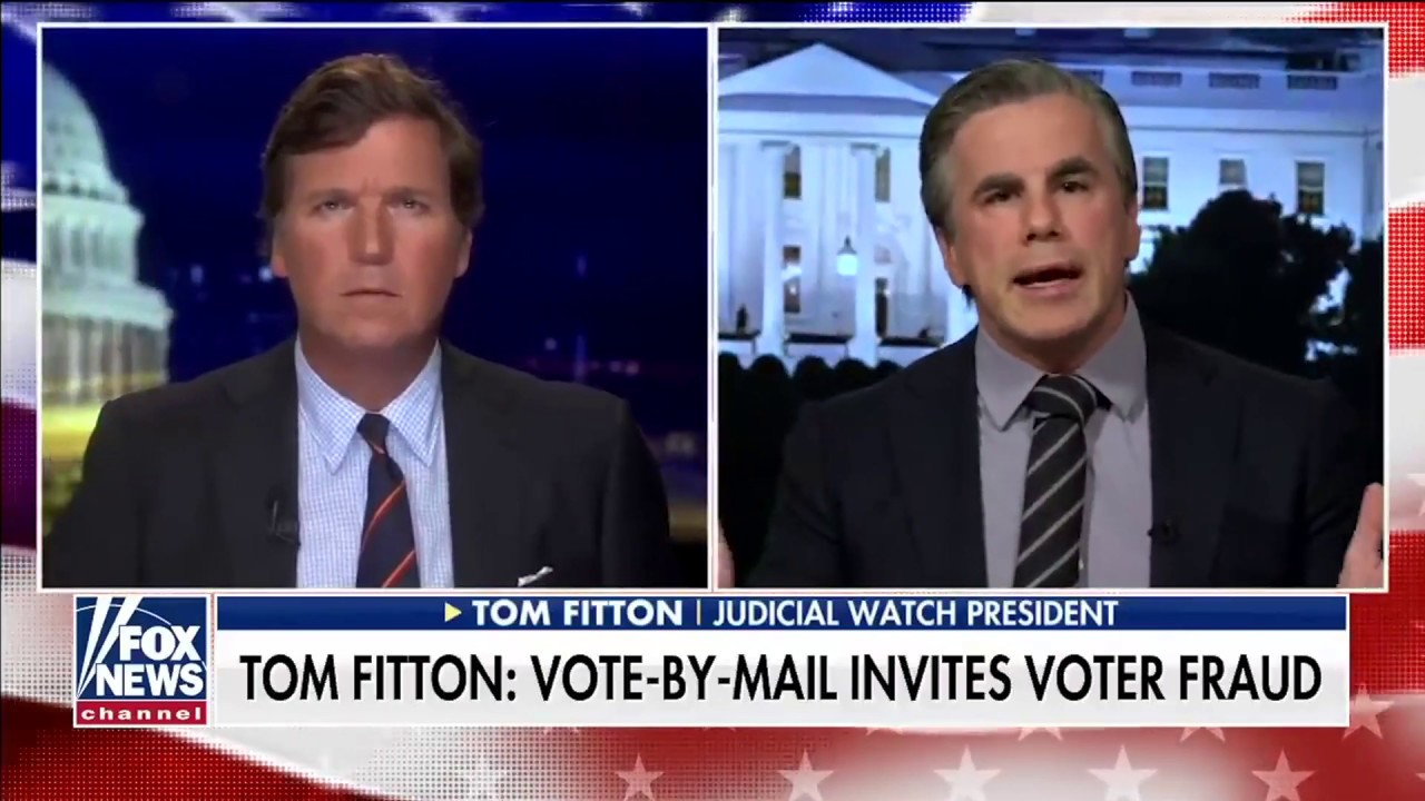 Tom Fitton: The Left Wants 3rd Parties to Collect Ballots Door-to-Door--HUGE Risk for Voter Fraud!