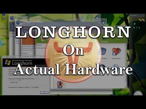 Installing Windows Longhorn On Actual Hardware!