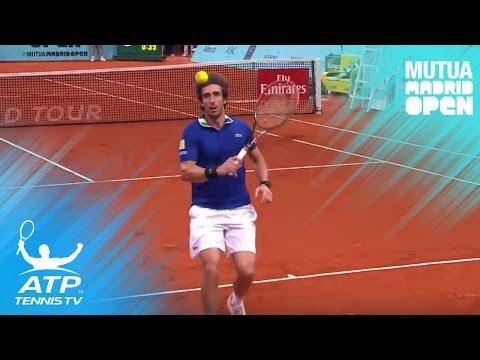 Unbelievable no-look passing shot by Cuevas! | 2017 Mutua Madrid Open