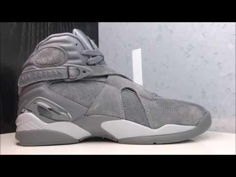 7f1c3b1a126 Air Jordan 8 Cool Grey Retro Shoe -REAL HONEST REVIEW - YouTube