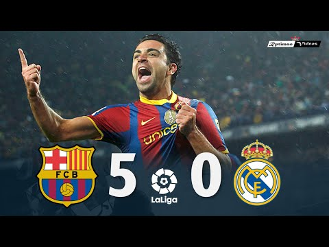 Barcelona 5 X 0 Real Madrid ● La Liga 10/11 Resumen Y Goles HD