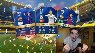 RONALDO 99 TOTS + MESSI 99 TOTS + NEYMAR 98 IN A PACK !!! TOP 5 BEST PACK OPENING! FIFA 17 ITA #92