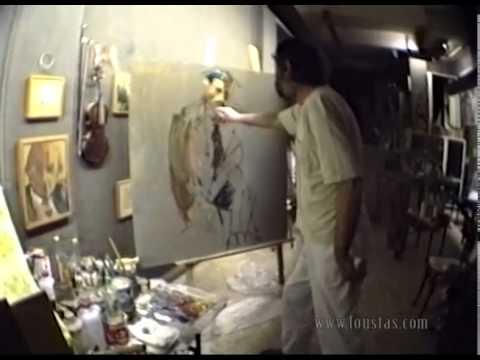 Kostas Loustas is painting Sotirakis Loustas