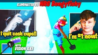 FAZE MONGRAAL *DEPRESSED* after BENJYFISHY *DESTROYS* HIM in Solo Cash Cup! (Fortnite Chapter 2)