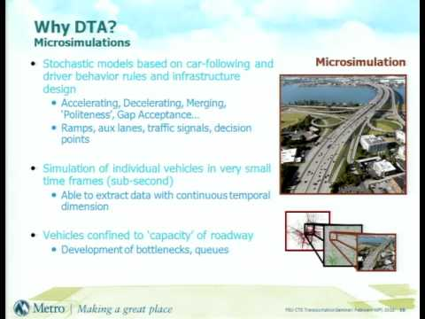 traffic assignment modelling