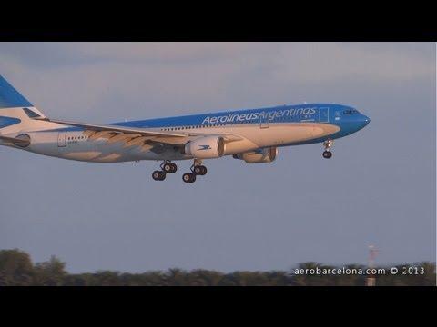 [FULL HD] Aerolíneas Argentinas First ever A330-223 LV-FNI arrival at Barcelona-El Prat