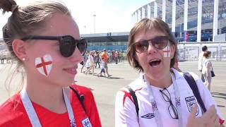 ⚽ Meet the England fans in Russia!! Pre-Match Interviews! ⚽