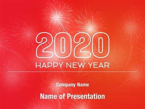 2020 New Year Powerpoint Template Backgrounds Digitalofficepro 00883