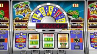 Rags to Riches Progressive Slot : Bonus Feature at Intercasino