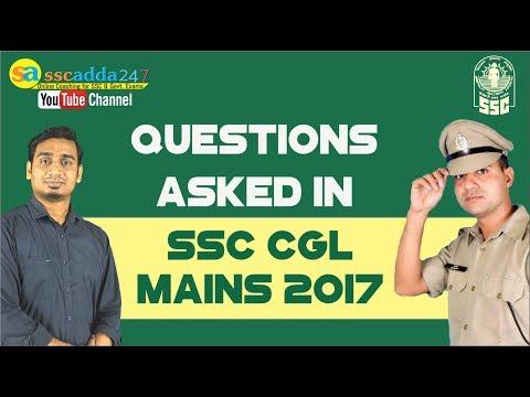 SSC CGL Mains 2017 In Depth Question Analysis By Santosh Sir & Sandeep Sir