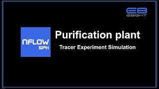Particle-based 3D CFD SW NFLOW SPH BLUE Purification plant Tracer Experiment Simulation