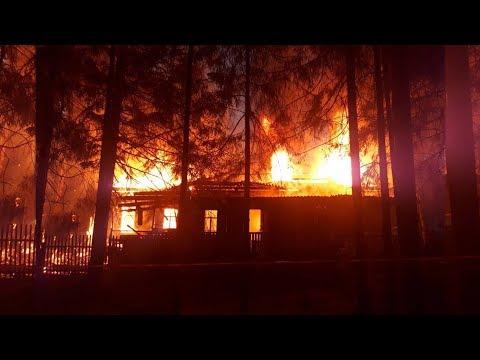 ЧП в Шарьинском районе: пожар в детском оздоровительном центре «Золотой колосок»