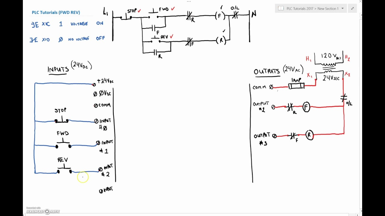 allen bradley plc wiring diagrams 2000 jeep grand cherokee infinity radio diagram twido great installation of tutorial twidosuite 5 fwd rev open loop control explanation rh youtube com panel mitsubishi