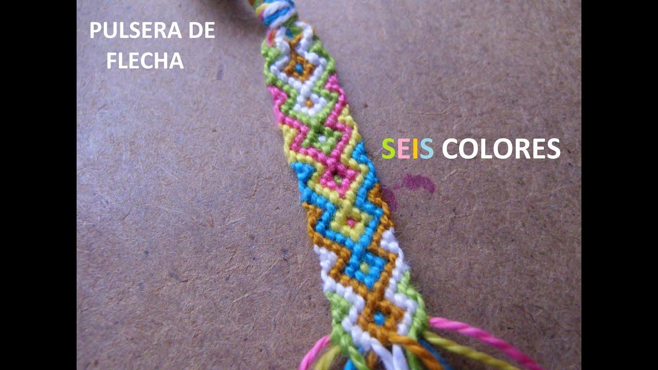 2806873e243a Pulsera De Flecha ~SEIS COLORES~ by Tuticrafts