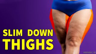 NO MORE BULKY THIGHS | SLIM DOWN YOUR THIGHS AT HOME