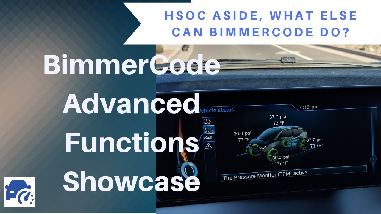 Full Guide to Basic BimmerCode programming for your BMW i3 BEV & REx!