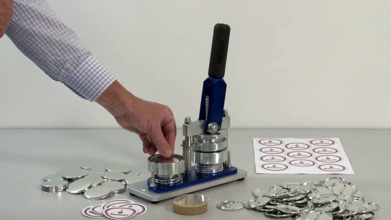 PixMax 25mm Buttonmaschine Buttonpresse Badgemaker /& Schneider inklusive 260 Buttonrohlinge