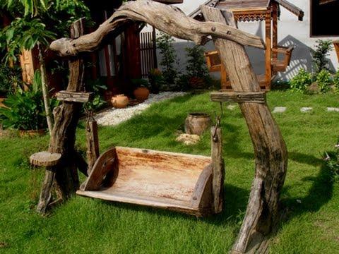 Садовая мебель и прочие самоделки из дерева
