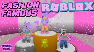 Playing FASHION FAMOUS at Roblox 👠👗 Fashion Show