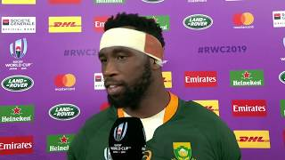 Rugby World Cup | SF2 | Wales v South Africa | Post-match interview with Siya Kolisi