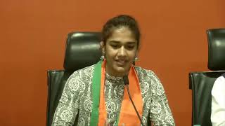 Wrestler Babita Phogat with father Mahavir Singh Phogat join BJP
