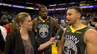 Stephen Curry & Kevin Durant Postgame Interview | Clippers vs Warriors - December 23, 2018