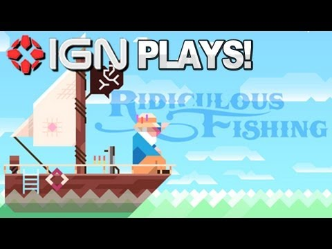Justin & Daemon Play Ridiculous Fishing - FISHING WITH GUNS!