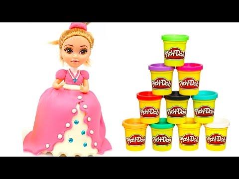 Пластилин Плей До, делаем платье принцессы  Плей До пластилин для детей  Игрушкин ТВ