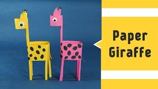 Paper Giraffe - Fun Paper Craft Animal Ideas for Kids to Make