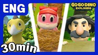 🌟 [Season 3] GoGo Dino Explorers ENG Three Episodes Compilation 6 🌟 / Marathon / GOGODINO