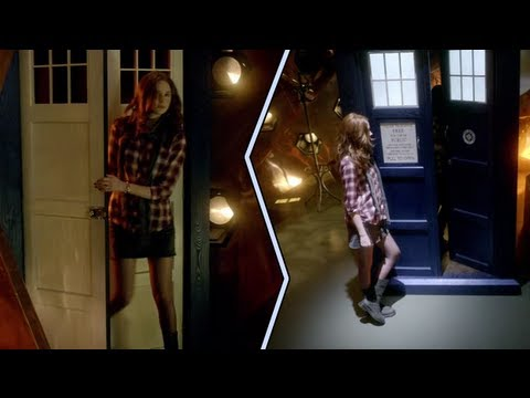 Doctor Who  Space  Time: SideBySide of the TARDIS Interior and Exterior