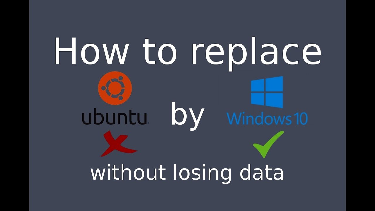 how to install ubuntu on windows 10 without losing data