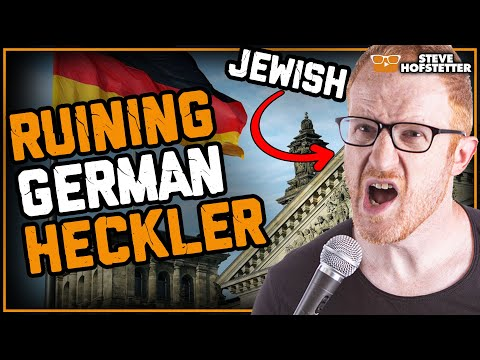 German Heckler vs Jewish Comedian