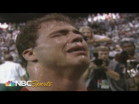 wwe-hall-of-famer-kurt-angle-wins-olympic-gold-in-1996-with-a-broken-neck-|-nbc-sports
